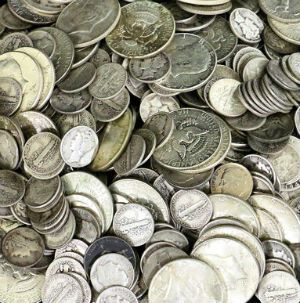 90% junk silver coins