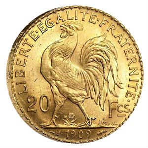 fractional gold coins | 20 Franc Gold Rooster