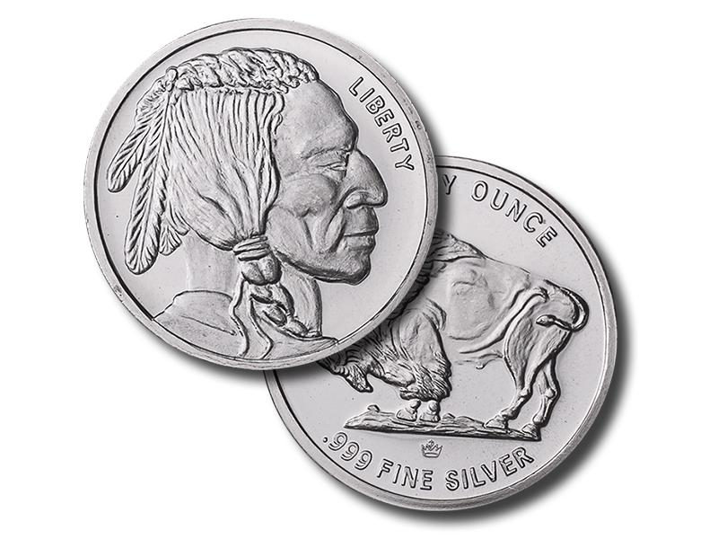 Generic Silver Rounds - Buffalo Design