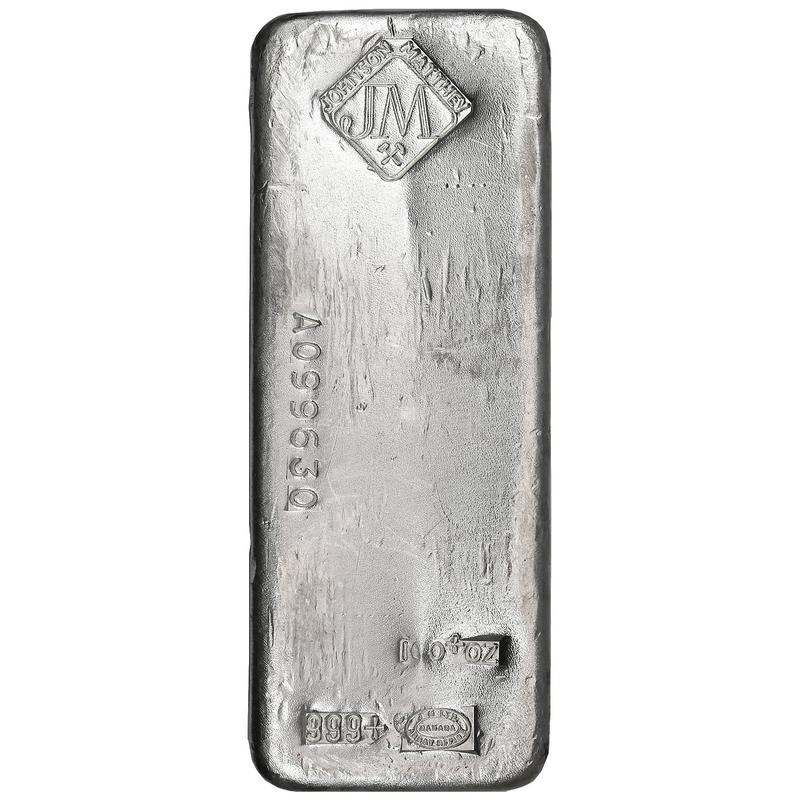 100 oz poured silver bar