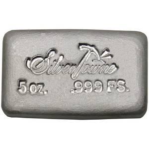 silvertowne 5 oz hand poured silver bar