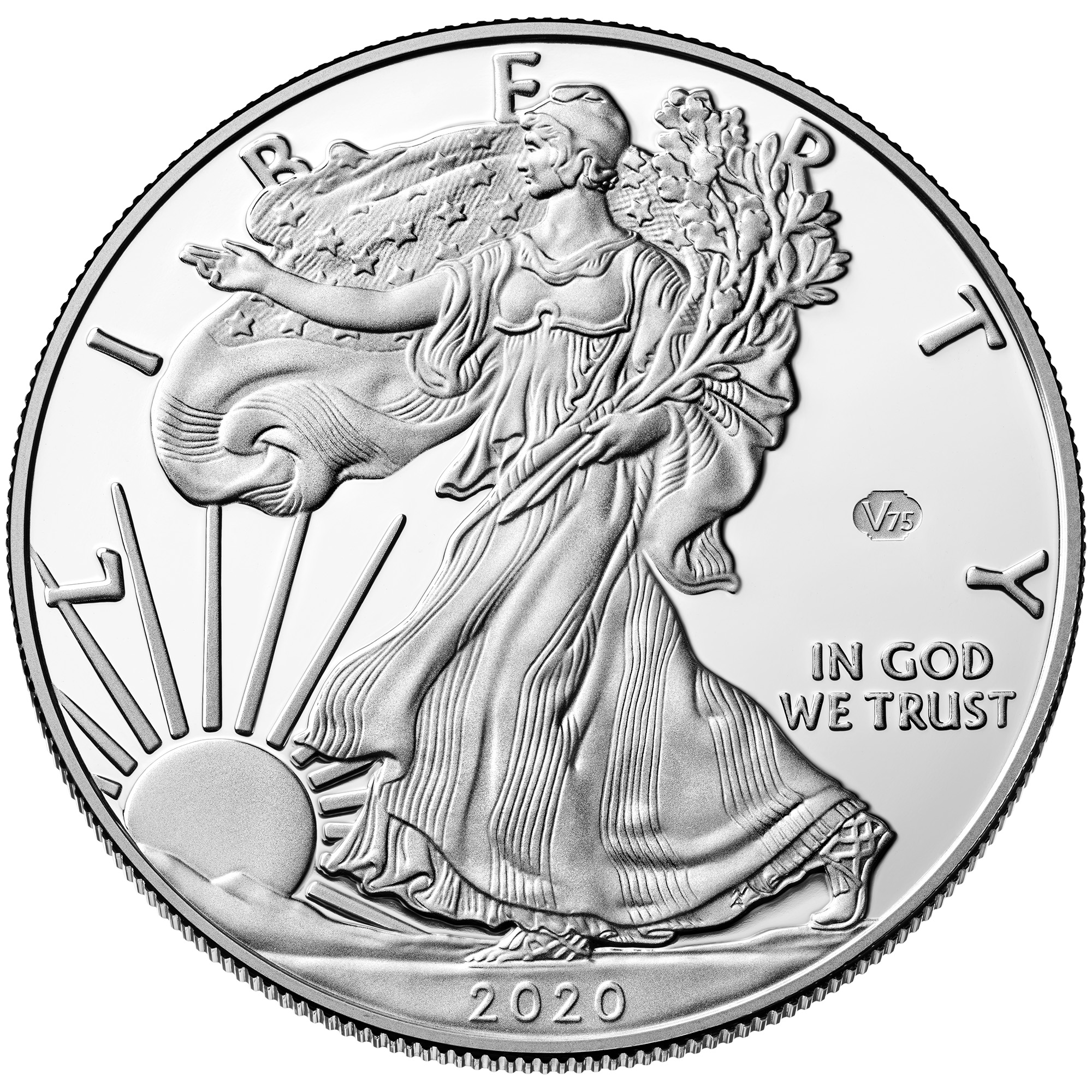 2020 American Silver Eagle 75th Privy Proof - Anniversary of the End of World War II