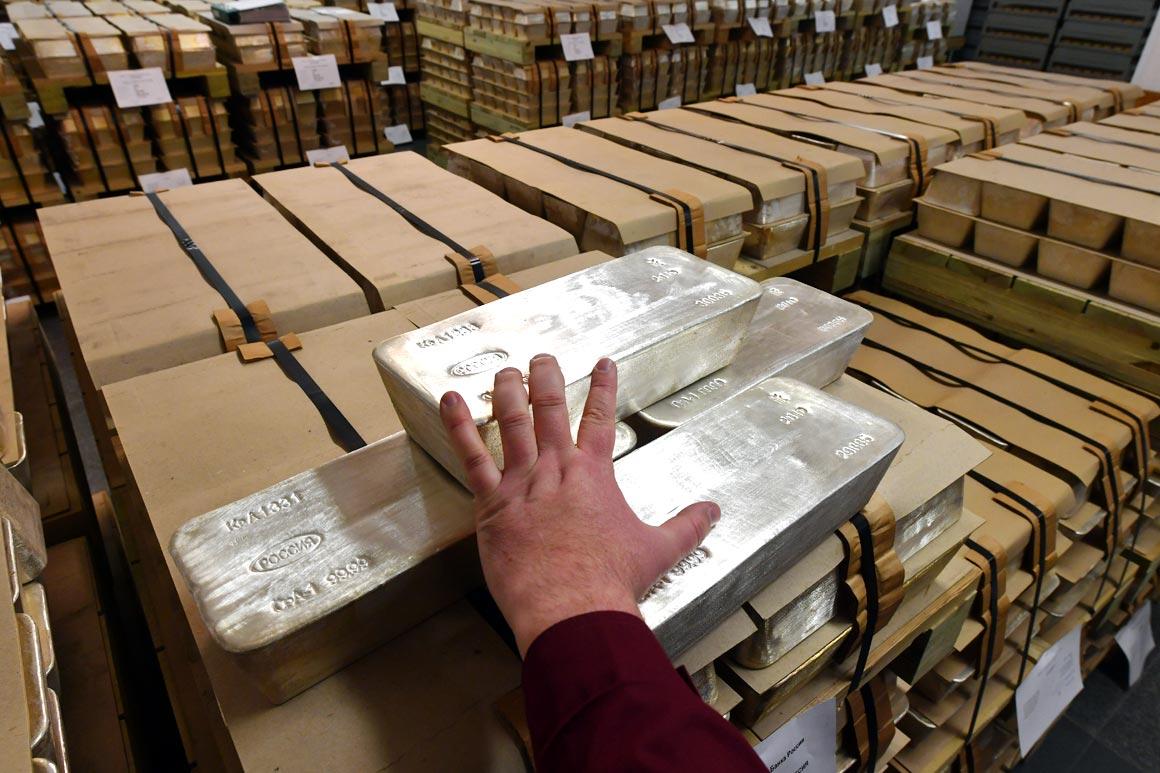 comex silver bars in warehouse