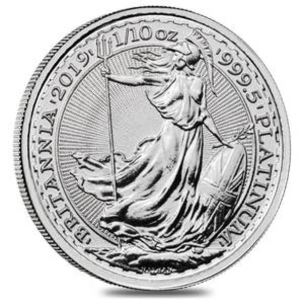 Compare platinum prices of 2019 Britannia 1/10 oz Platinum Coin