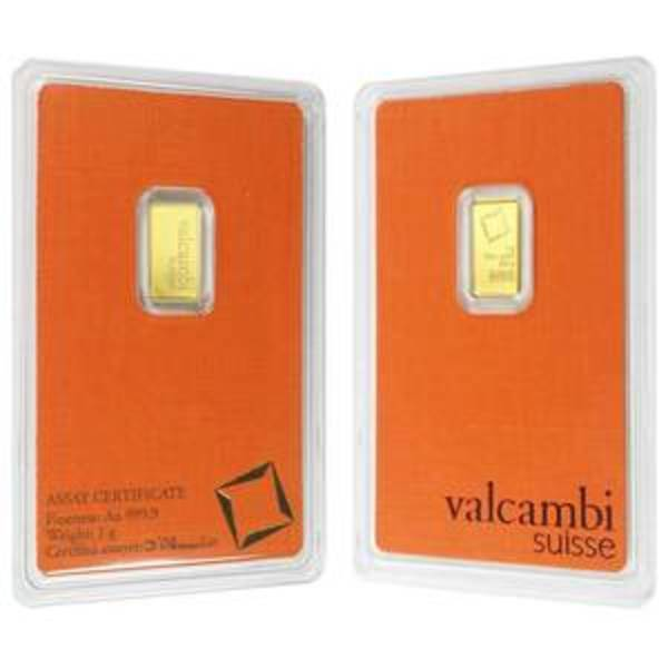 Compare cheapest prices of 1 gram Valcambi Gold Bar