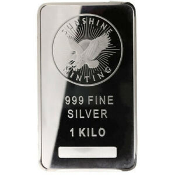 Compare silver prices of 1 Kilo Silver Bar Sunshine Minting (32.15 troy oz) .999 Fine Bullion Ingot