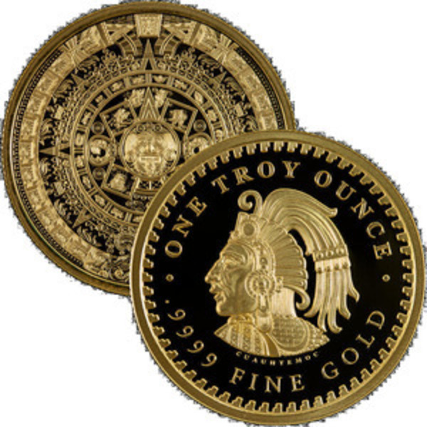 Compare Aztec Calendar 1 oz Gold Round prices