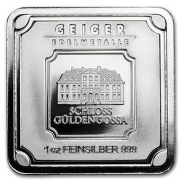 Compare silver prices of 1 oz Geiger Square Bar .999 silver (Original Square Series)