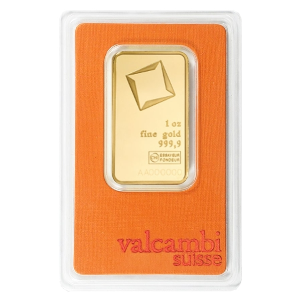 Compare gold prices of 1 oz Gold Bar Valcambi Suisse .9999 Fine 24kt