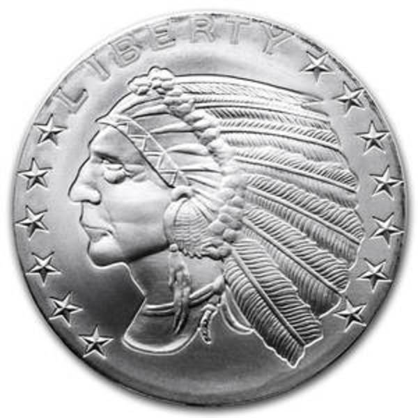 Compare silver prices of 1 oz Silver Round - Incuse Indian