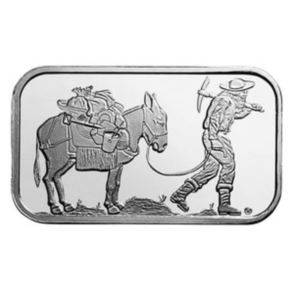 Compare silver prices of SilverTowne Retro Prospector 1 oz Silver Bar