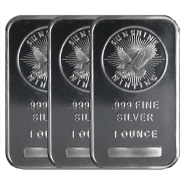 Compare silver prices of 1 oz Silver Bar - Sunshine Mint (MintMark SI)