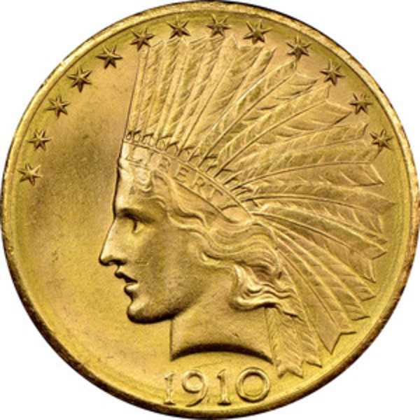 Compare gold prices of $10 Gold Eagles (Indian Head 1907 - 1933) Cleaned or Circulated