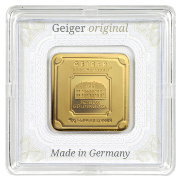 Compare gold prices of 10 gram Geiger Edelmetalle Gold Bar