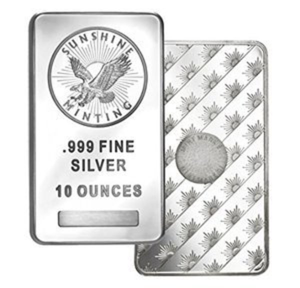 Compare silver prices of Sunshine Mint 10 oz Silver Bar