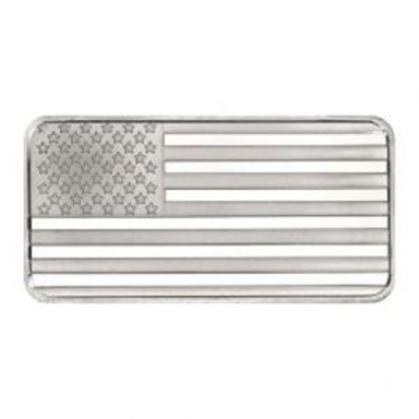 Compare silver prices of 10 oz SilverTowne American Flag Silver Bar