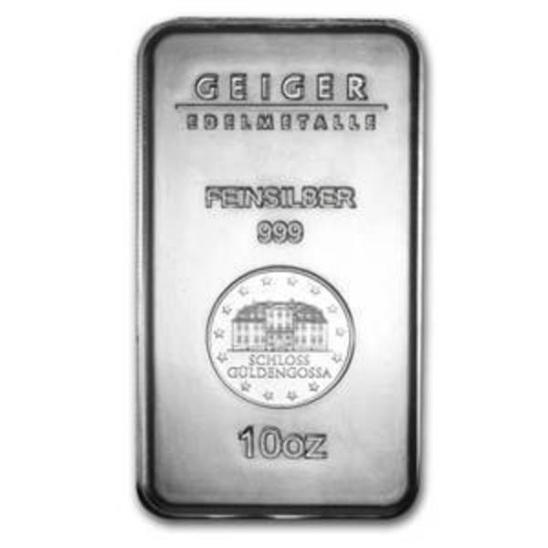 Compare silver prices of 10 oz Silver Bar - Geiger (Security Line Series)