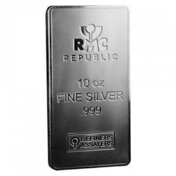 10 oz Silver Bar - Republic Metals (RMC)