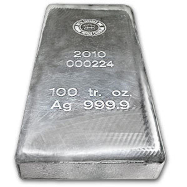 Compare silver prices of 100 oz Silver Bars