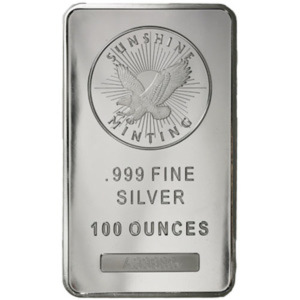 Compare silver prices of 100 oz Silver Bar - Sunshine (MintMark SI)