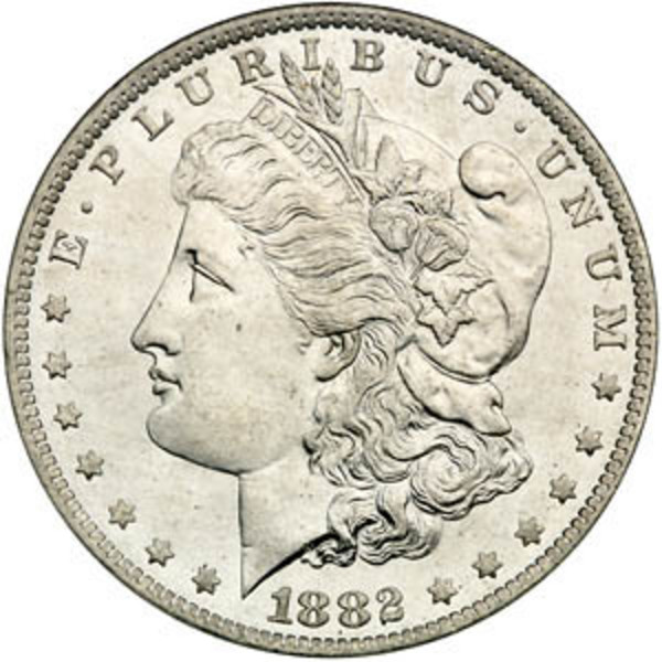 Compare silver prices of 1878-1904 Morgan Silver Dollars (Random Years)