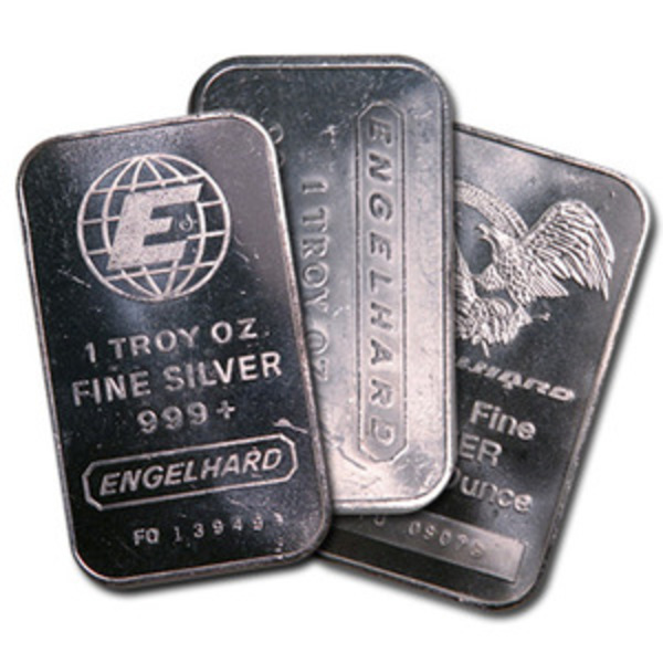 Compare silver prices of 1 oz Engelhard Silver Bar