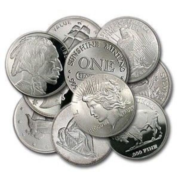 Compare cheapest prices of Generic 1 oz Silver Rounds