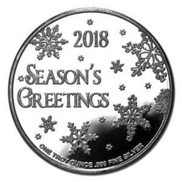 Compare cheapest prices of 2018 Seasons Greetings Silver Round