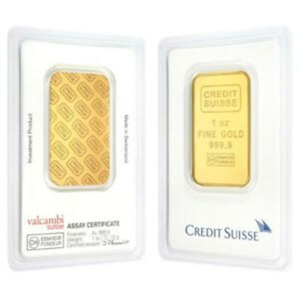 Compare cheapest prices of 1 oz Gold Bar Credit Suisse