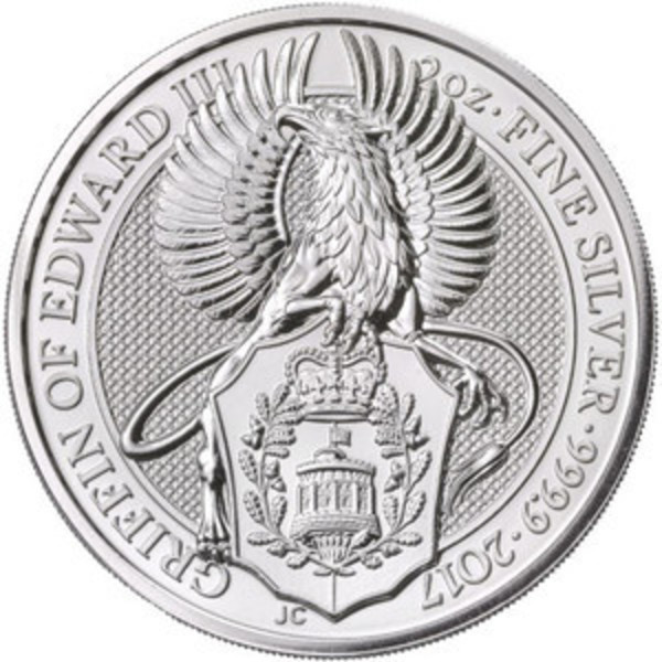 Compare silver prices of 2017 Queen's Beasts The Griffin 2 oz Silver