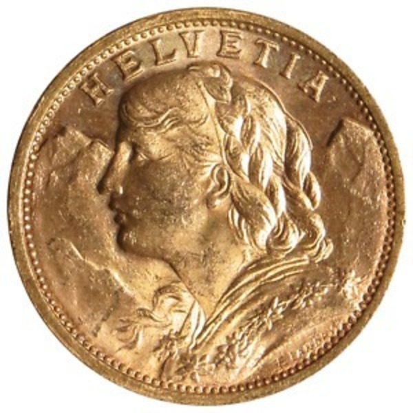 Compare cheapest prices of 20 Franc Swiss Gold Helvetia Coins