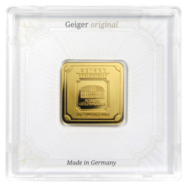 Compare gold prices of 20 gram Geiger Edelmetalle Gold Bar