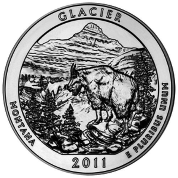 Compare silver prices of 2011 ATB - Glacier National Park 5 oz Silver Coin