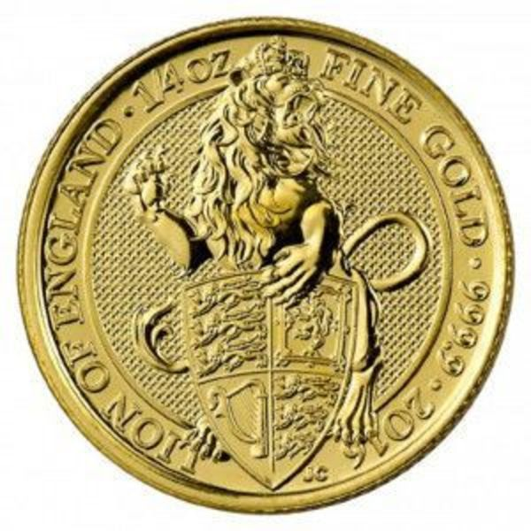 Compare 2016 Great Britain 1 oz Gold Queen's Beasts The Lion prices