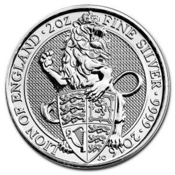 2016 Great Britain 2 oz Queen's Beasts The Lion