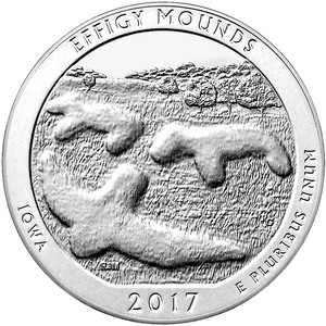 Compare silver prices of 2017 Silver 5oz. Effigy Mounds National Monument ATB