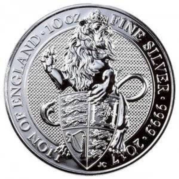Compare silver prices of 2017 10 oz Silver Queen's Beasts - The Lion