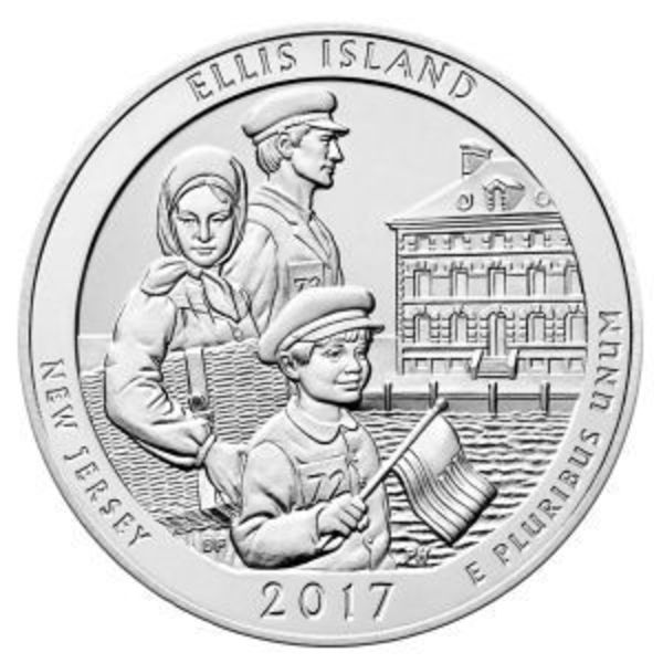 Compare 2017 5 oz Silver ATB Ellis Island National Monument NJ prices
