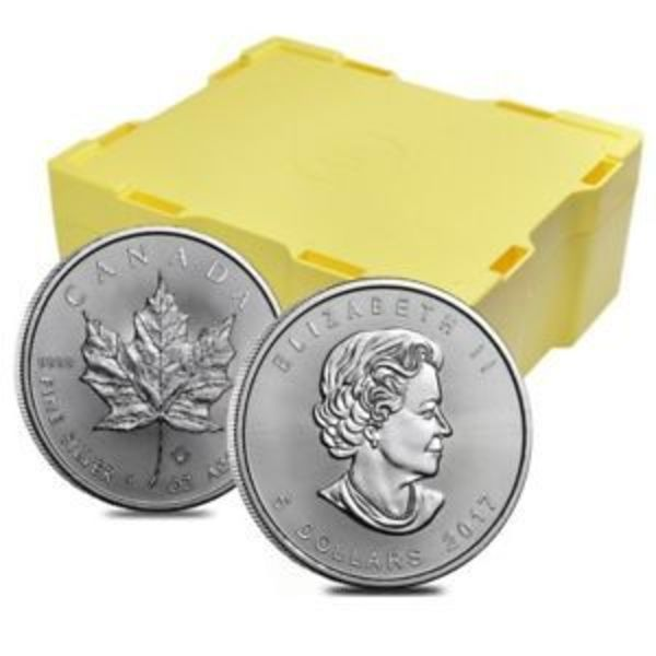 Compare silver prices of 2018 1 oz Silver Maple Leaf 500 coin Monster Box