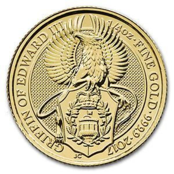 Compare gold prices of 2017 Great Britain 1/4 oz Gold Queen's Beasts The Griffin