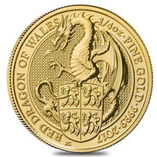 Compare gold prices of 2017 Great Britain 1/4 oz Gold Queen's Beasts The Dragon