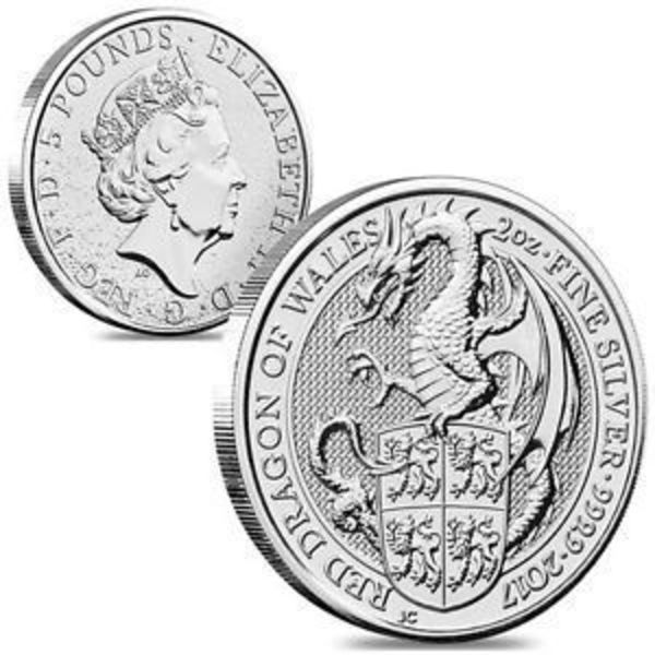 Compare silver prices of 2017 Queen's Beasts The Dragon 2 oz Silver