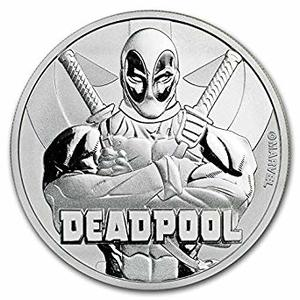 Compare 2018 1 oz Tuvalu Deadpool Marvel Series Silver Coin prices