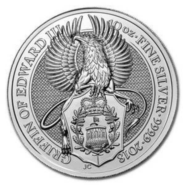 Compare silver prices of 2018 10 oz Silver Queen's Beasts - The Griffin