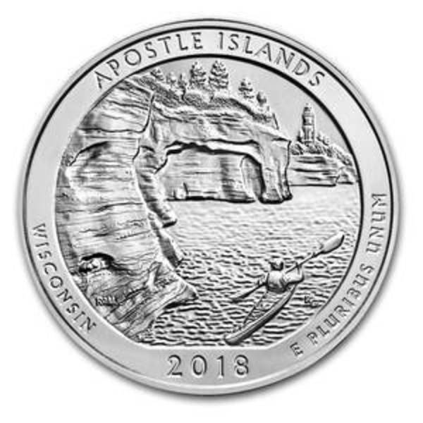 Compare silver prices of 2018 5 oz Silver ATB Apostle Islands National Lakeshore, WI