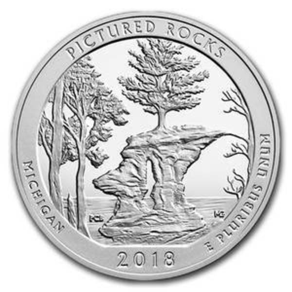 Compare silver prices of 2018 5 oz Silver ATB Pictured Rocks National Lakeshore, MI