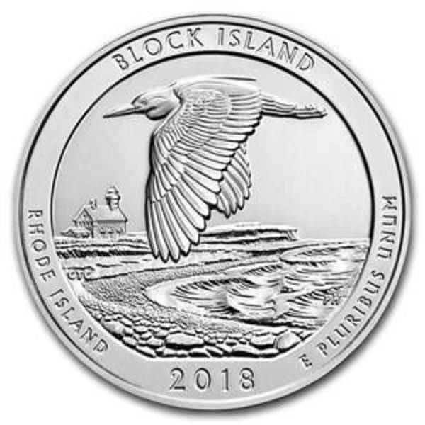Compare silver prices of 2018 5 oz Silver ATB Block Island National Wildlife Refuge, RI