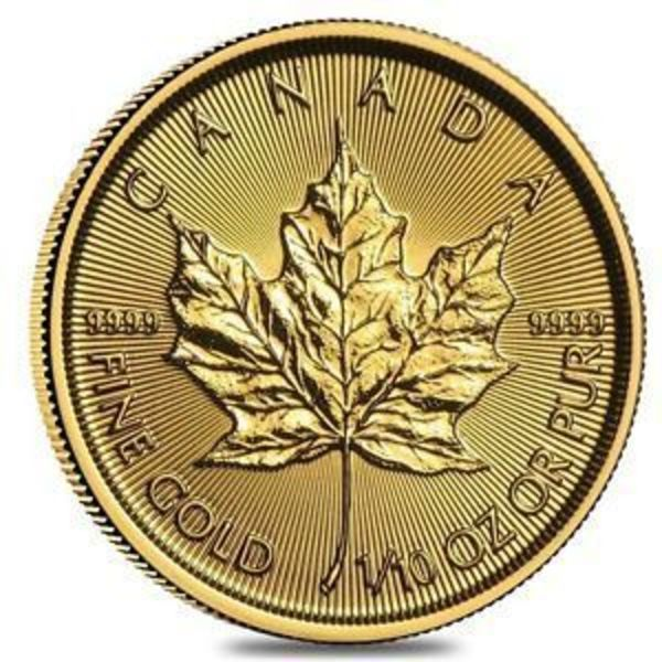 Compare gold prices of 2018 1/10 oz Canadian Gold Maple Leaf $5 Coin .9999 Fine