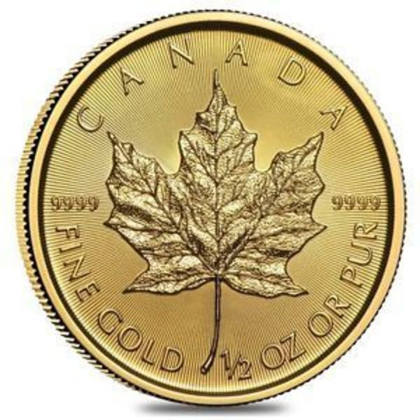 Compare gold prices of 2018 1/2 oz Canadian Gold Maple Leaf $20 Coin .9999 Fine