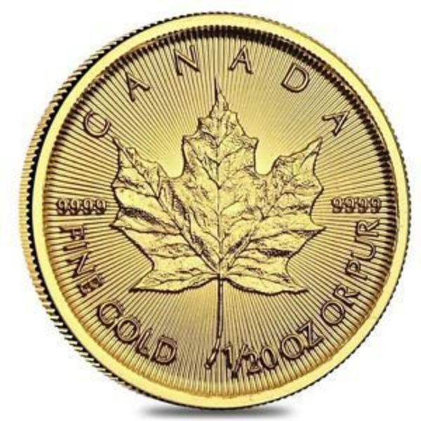 Compare 2018 1/20 oz Canadian Gold Maple Leaf $1 Coin .9999 Fine prices
